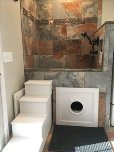 Dog shower and laundry room