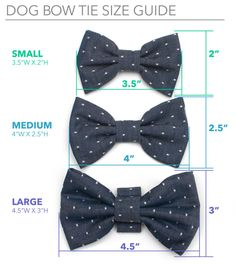 ✴ Our Brighton Bow Tie for Dogs is made of a navy cotton fabric with a jaunty anchor print and easily slips onto your dogs collar. It offers extra style for walks around the block or special events! ✴ Our bow ties are available in three different sizes and attach with an elastic loop that slides onto you dogs collar.  ✴ Please see the last image above for sizing information. ✴ This item is Made To Order and will ship within 1-2 weeks of order. Dont worry, well have it ready for you as soon…
