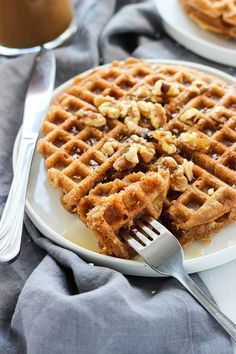 Vegan Carrot Cake Waffles | Dietitian Debbie Dishes