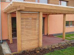 Pevná dřevěná žaluzie v pozinkovaném rámu, materiál JASAN