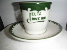 VINTAGE RESTAURANT CHINA COFFEE CUP - WELLSVILLE CHINA OHIO - DELTA DRIVE INN #WELLSVILLE