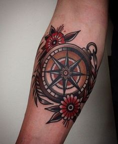 Image result for sparrow ribbon compass tattoo