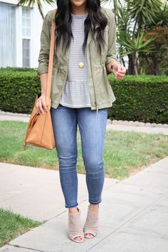 1a1c5b007a14 COMFY Tops for Cute, Comfortable, Casual Fall Outfits. YASSS! Utility Jacket  OutfitGreen ...