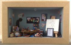 Paula Crafting: A studio in a shadow box