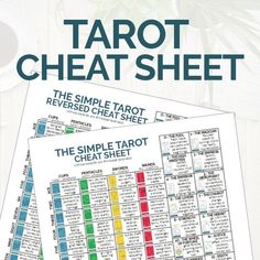The origins of the Tarot are surrounded with myth and lore. The Tarot has been thought to come from places like India, Egypt, China and Morocco. Others say the Tarot was brought to us fr Star Tarot, Tarot Card Meanings, Tarot Spreads, Tarot Readers, Card Reading, Tarot Decks, Cheat Sheets, Learn To Read, Deck Of Cards