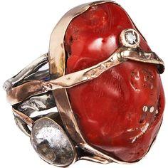 sandra dini jewelry | Sandra Dini, red coral ring ($830) | Cool Jewelry (that I did not mak ...