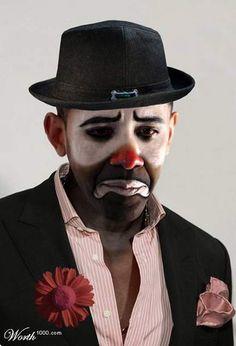 Barack Obama-----he IS a clown & joke to America!