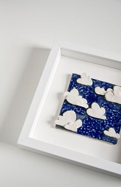Decorative Tiles For Wall Art Wouldn't This Be Adorable For A Nursery Clouds In The Sky Ceramic