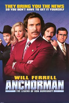 Anchorman is such a classic movie and I love love love the soundtrack, which Ron Burgundy narrates!
