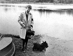 Fala, a Scottish terrier, was President Franklin Delano Roosevelt's companion during FDR's final years in the White House. He's shown here with Eleanor Roosevelt in 1947.
