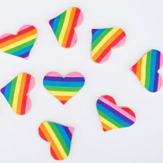 Pride rainbow heart cookies by Sweet E's Bake Shop