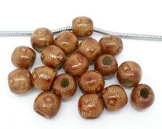 Assortment of 75 Lovely Wooden Euro Beads on Etsy, $5.00