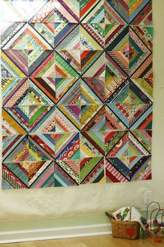 project ponderings — Stitched in Color scrappy WIP quilt