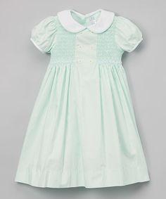 Loving this Green Floral Smocked Dress - Toddler & Girls on #zulily! #zulilyfinds