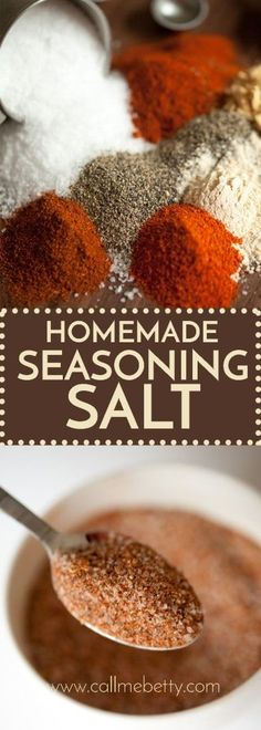 your own seasoning salt blend in 5 minutes, this recipe saves money and you can customize it to your own tastes!Make your own seasoning salt blend in 5 minutes, this recipe saves money and you can customize it to your own tastes! Homemade Onion Soup Mix, Homemade Seasoning Salt, Homemade Spice Blends, Fajita Seasoning, Homemade Spices, Seasoning Mixes, Spice Mixes, Seasoning Salt Recipe, Burger Seasoning