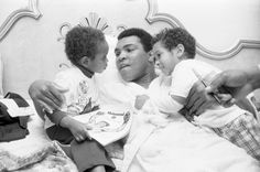 Dave Chappelle (L) shared a photo of his first meeting with Muhammad Ali, when the young comedian was just two years old.