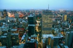 Johannesburg City South Africa by night! Johannesburg City, World Of Wanderlust, Top Travel Destinations, Night City, Auckland, Old Photos, Worlds Largest, South Africa