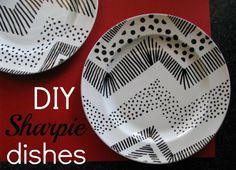 sharpie dishes diy