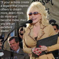 Dolly Parton on leadership.