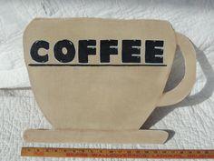 Oversized Coffee Mug  Wall Decor  Counter by PurveyorsOfFineJunk, $35.00