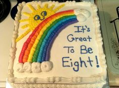 It's great to be eight cake