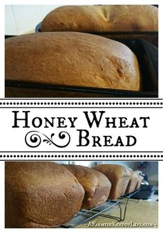 Let me share with you our recipe for Honey Wheat Bread - it's one of our favorite go-to bread recipes, and works great for sandwiches!