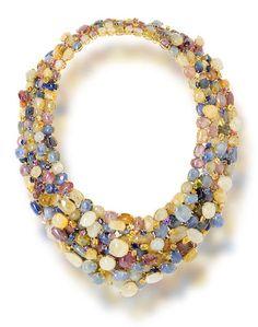 A Multi-Colored Sapphire Necklace, Tony Duquette   Fashion Jewelry Modern   Rosamaria G Frangini