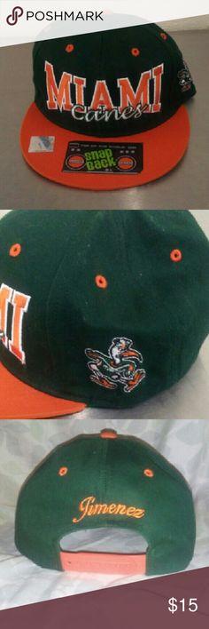 Miami Hurricanes Snapback Great condition! Accessories Hats