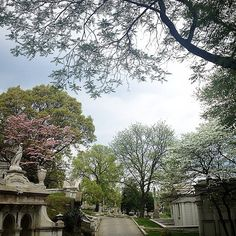 Laurel Hill Cemetery, Philadelphia, Pennsylvania — by Very Hungry Traveller. Even on an overcast day, I like the peaceful feeling of wandering around the cemetery gardens at Laurel Hill Cemetery...