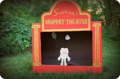 Someday Crafts: Guest Blogger - The Letter 4 - Muppets Puppet Theater