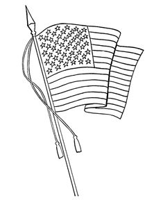 Flag Day Coloring Page