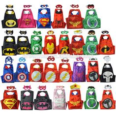 16 best price wholesale kids super hero cape and mask children costume capes