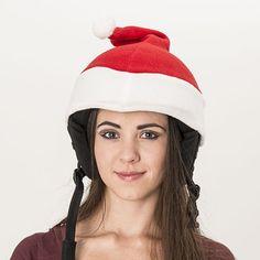 Santa helmet cover (universal size) - Evercover Ltd. Snowboarding, Skiing, Helmet Covers, Ski Helmets, Sports Helmet, Roller Derby, Santa Hat, Cool Kids, Bicycle