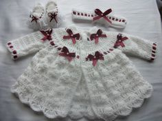 Hey, I found this really awesome Etsy listing at https://www.etsy.com/listing/180386187/baby-cardigan-set-crochet-knitted-for