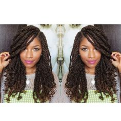 65 Kinky Twists Styles You Must Try!- 65 Kinky Twists Styles You Must Try! 65 Kinky Twists Styles You Must Try! – Part 38 - Crochet Braids Marley Hair, Crochet Braids Hairstyles, African Hairstyles, Afro Hairstyles, Black Girls Hairstyles, Hairstyles 2018, Protective Hairstyles, Hairstyles Games, Senegalese Twist Hairstyles
