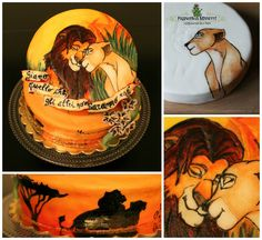 The Lion King Cake. Hand painted!