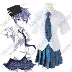 Anime Akuma no Riddle Azuma Tokaku school uniform Cosplay Cloak Halloween Costumes women girl dress sailor Shirt + dress + Neck #Affiliate