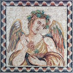 Exceptional Ancient Roman Mosaic - Autumn Season