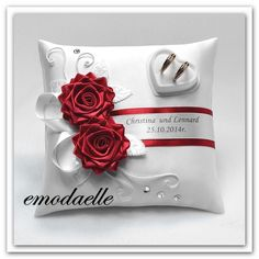 color)Personalized wedding ring cushion pillow with rings holder box in Home, Furniture & DIY, Wedding Supplies, Ring Pillows & Flower Baskets Wedding Ring Cushion, Wedding Pillows, Cushion Ring, Cushion Pillow, Ring Holder Wedding, Wedding Rings, Diy Wedding, Modern Jewelry, Fine Jewelry