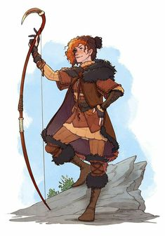 Say hello to a brand new D&D(ish) character! I've only ever played and but I'm looking forward to learning where Pathfinder falls on the sc. To Leave the Sheep Behind Fantasy Character Design, Character Creation, Character Design Inspiration, Character Concept, Character Art, Concept Art, Character Ideas, Archer Characters, Dnd Characters