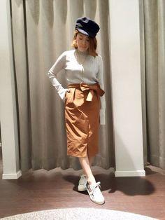 ナイロン生地のスカートは少しハリ感がありますが  とっても柔らかくて履き心地良し☆