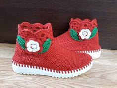 Crochet Boots, Baby Shoes, Kids, Clothes, Fashion, Slipper, Tejidos, Booties Crochet, Young Children