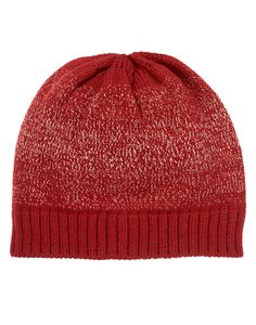 Warm up cozy holiday styles with a shimmery sweater hat.