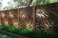 Painted garden fence for a bite of whimsy.
