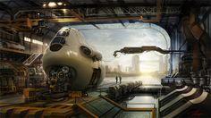 Concept spaceship environments by Tae won jun #5