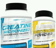 Trec Nutrition Best Pure Creatine 400g Monohydrate + taurine + Dextrose 500g in Sporting Goods | eBay