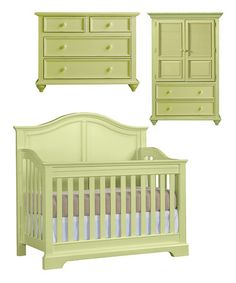 Take a look at this Sea Grass Built to Grow Acclaim Crib, Single Dresser & Door Chest by Young America on #zulily today!