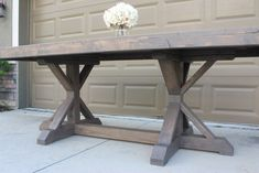 Farmhouse Table Build - Frills and Drills Table, Rustic Farmhouse Table, Dining Room Design, Building A Kitchen, Diy Table, Furniture, Restoration Hardware Inspired, Farmhouse Table Base, Dining Table
