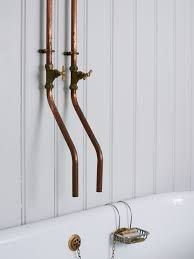 Image result for antique bathrooms exposed piping