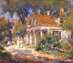 Colin Cambell Cooper 1856 1937House In Marthas Vineyard Art